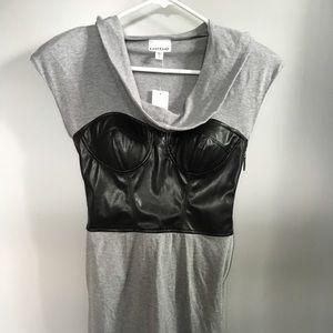 Nwt Bebe Kardashians hooded corset dress
